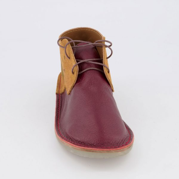 Vellies Tiger Lily maroon front