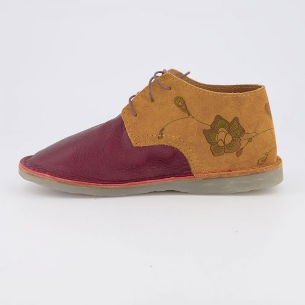 Vellies Tiger Lily maroon left side